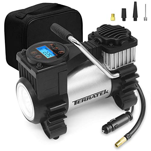 motorcycle and bicycle. 12V Analogue Air Compressor With Gauge XtremeAuto Pump for car